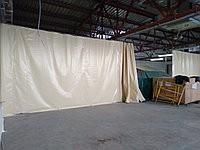 Непрозрачная штора пвх для разделения ангара